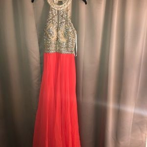 """Sparkled Coral Dress"""